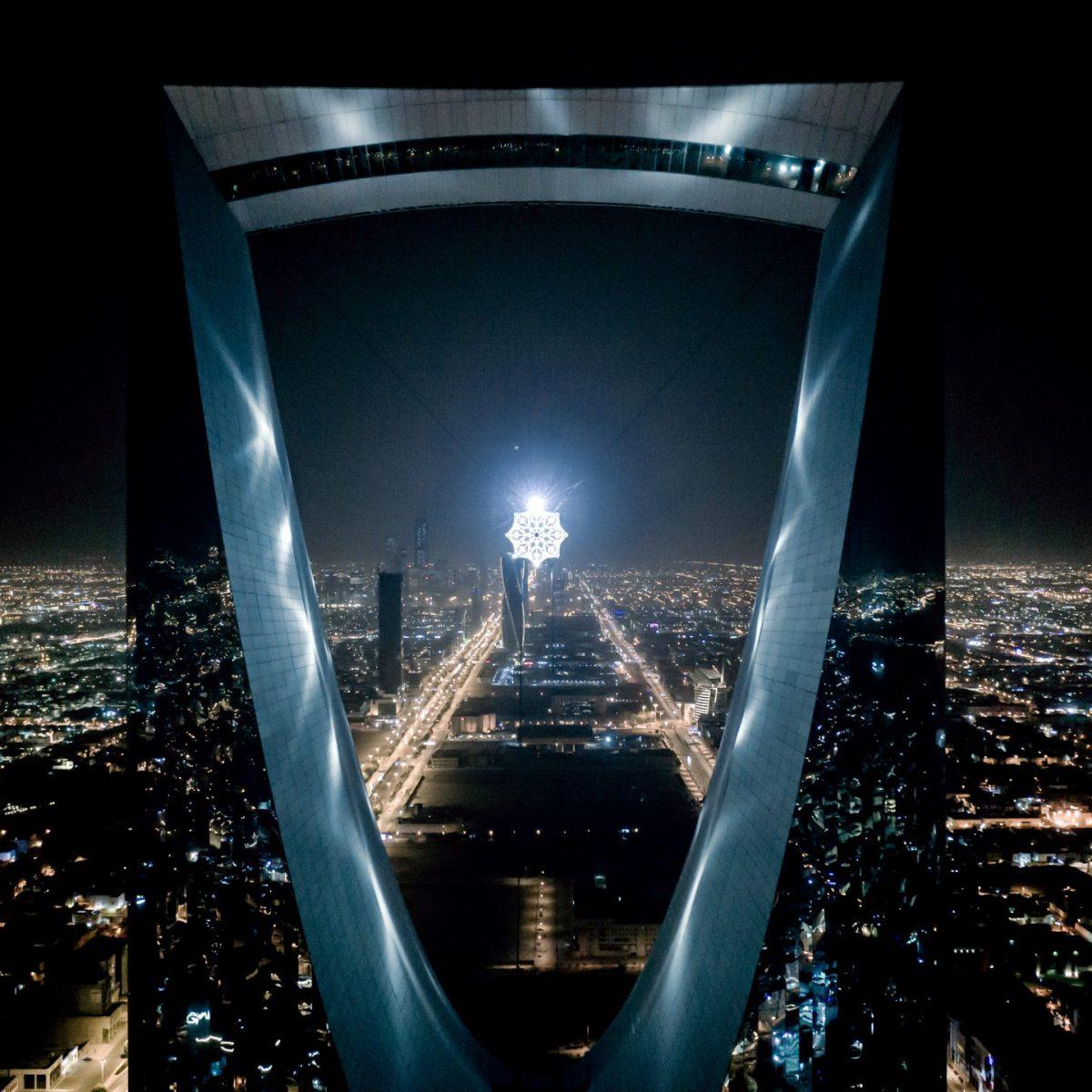 Lo spettacolo della «Light art» nelle notti di Riyad